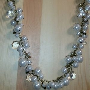Chloe & Isabel Antique Gold & Faux Pearl Necklace